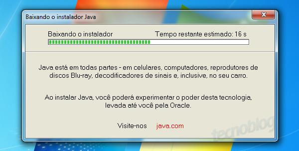 versao 1.7 da maquina virtual java jvm