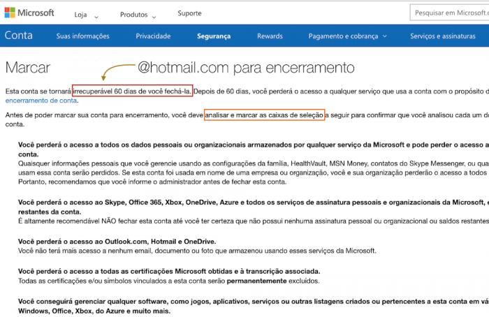 Excluir Hotmail