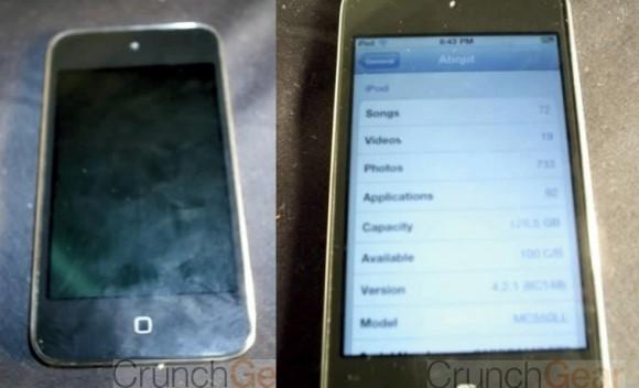 Próximo iPod aposenta botões? (Crédito: CrunchGear)   Clique para ampliar
