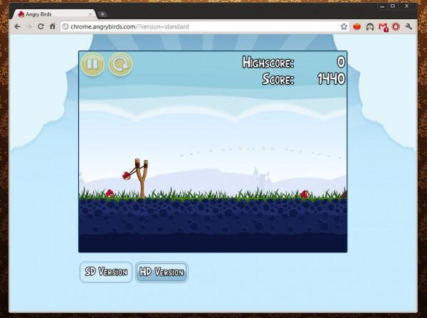 Angry Birds no Google Chrome