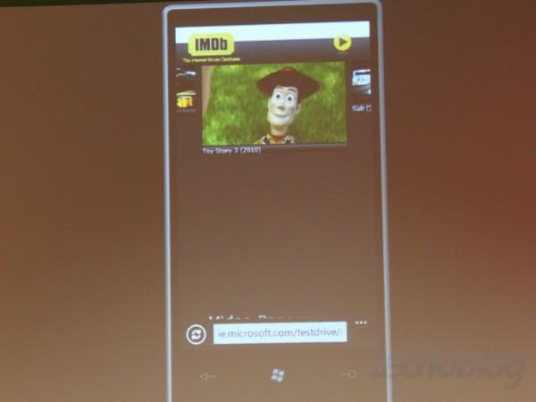Internet Explorer 9 roda um vídeo em HTML 5 | Clique para ampliar