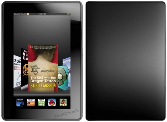 Mockup do Kindle Fire | Imagem: Engadget