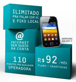 Oi: plano mais smartphone por R$ 92 mensais