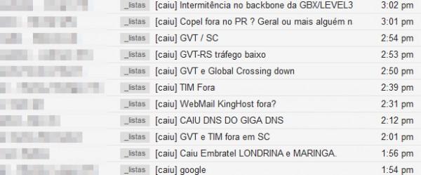 Rompimento de fibra afeta redes da GVT, TIM e Vivo em parte do ... 7351352723
