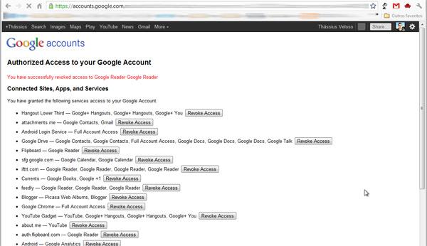 Sério que eu tenho esse monte de tralha pendurado à minha conta do Google?