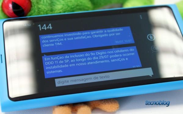 SMS enviado pela TIM (foto: Thássius Veloso / Tecnoblog)