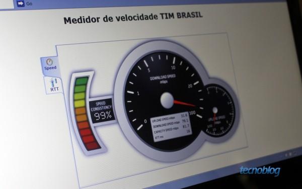 79 Mbps de downstream e quase 32 Mbps de upstream neste teste (foto: Thássius Veloso / Tecnoblog)