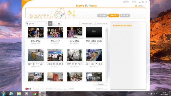 Media FUNtasia: software da LG para visualizar fotos, vídeos e músicas
