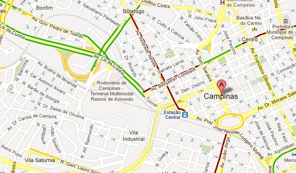 Trnsito do google mapas abrange mais cinco cidades do brasil campinas no tinha informaes sobre trnsito stopboris Images