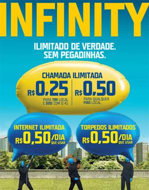 Plano Infinity cobrava por chamadas (Imagem: Reprodução/TIM)