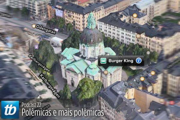 Burger King em uma igreja? Não: mapas do iOS 6 apresentado erros. Clique e saiba mais no episódio 22 do podcast