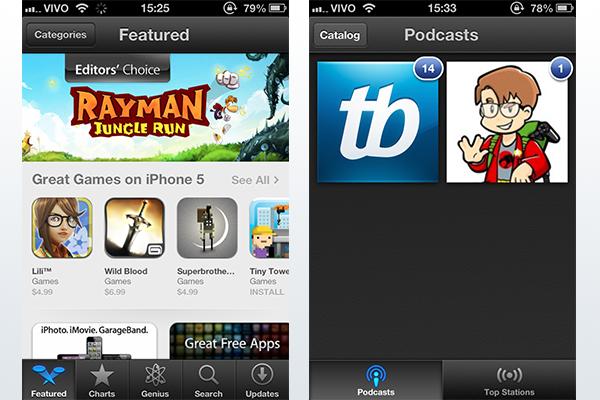 App Store e Podcasts