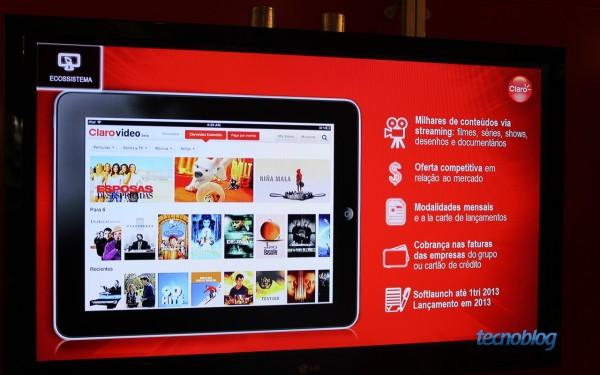 Claro Vídeo foi apresentado durante a Futurecom no Rio de Janeiro (foto: Lucas Braga / Tecnoblog)