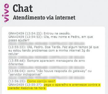 Atendimento ao cliente (reprodução / Folha.com)
