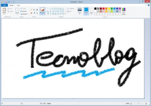 MS Paint no Windows 8: vários pinceis