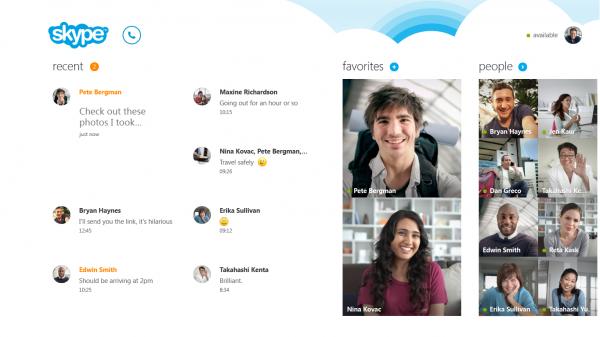 Tela inicial do Skype (imagem: divulgação / Microsoft)