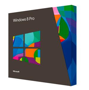 Na caixa do Windows 8, não há nenhum aviso dizendo que se trata de uma versão de atualização