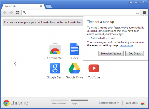 A partir do Chrome 25