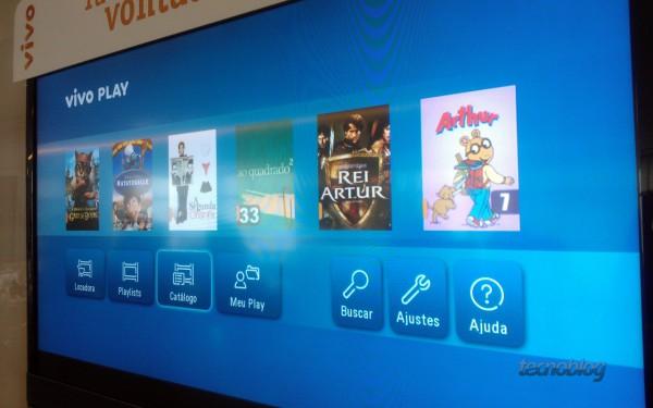 Vivo Play em televisor inteligente (smart TV) - Foto: Thássius Veloso / Tecnoblog