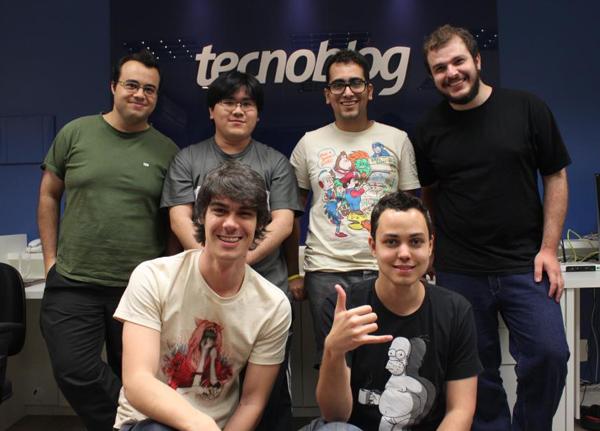Rafael Silva, Paulo Higa, Gus Fune, Trevis Bonifácio, Thiago Mobilon e Thássius Veloso na redação