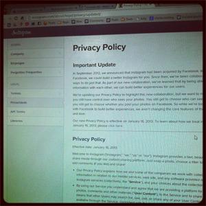 Política de privacidade do Instagram