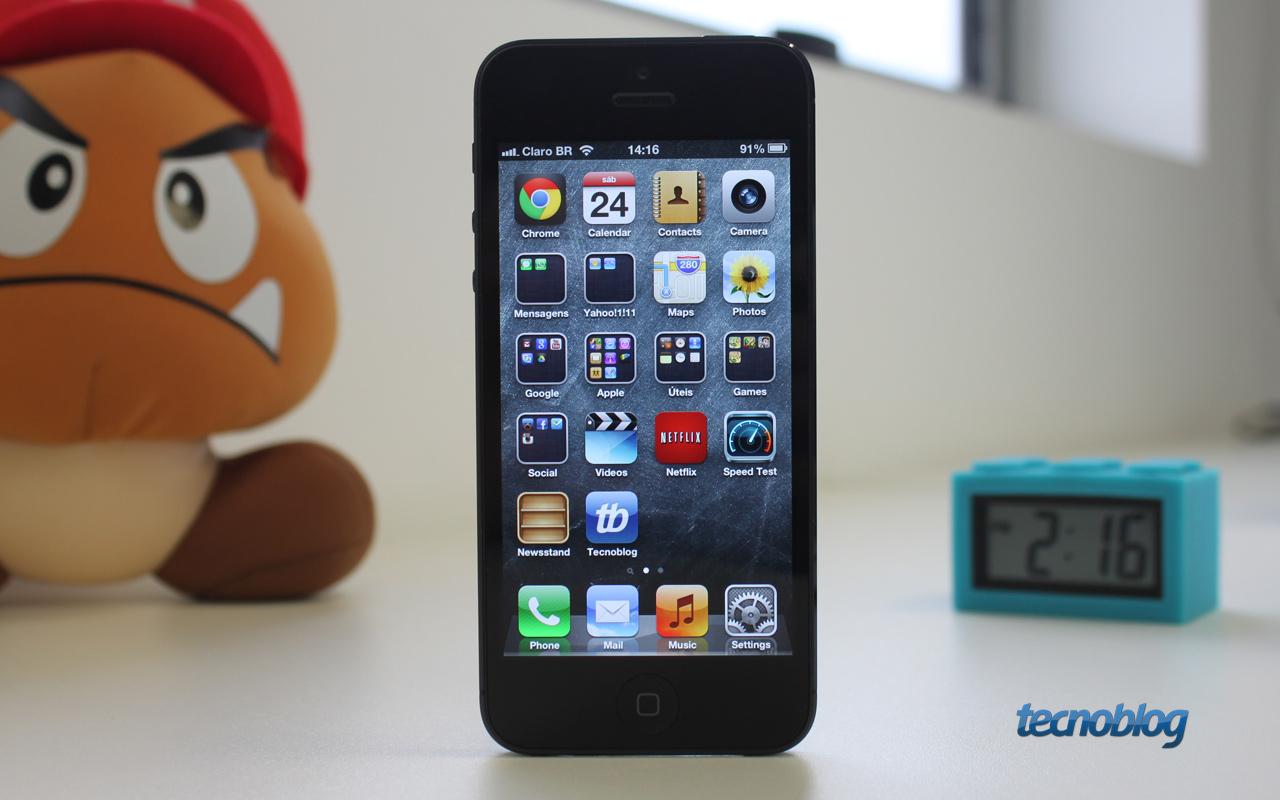 review iphone 5 mais uma evolu o do que revolu o an lise v deo tecnoblog. Black Bedroom Furniture Sets. Home Design Ideas