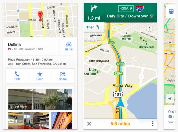 Google Maps no iPhone