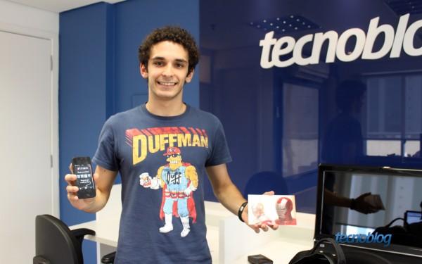 Programador visita redação do Tecnoblog - Foto: Thássius Veloso / Tecnoblog