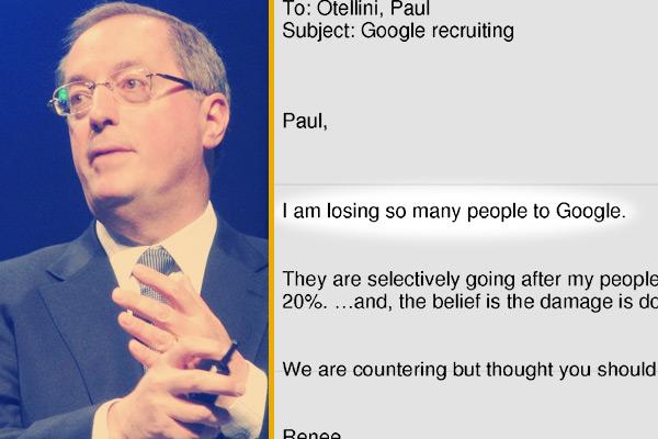 Funcionário do Google envia reclamação para o então CEO da Intel, Paul Otellini