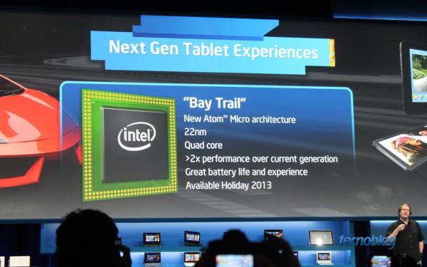 Bay Trail: Atom quad-core para tablets Android e Windows 8