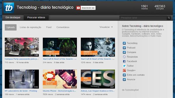 Canal do Tecnoblog no YouTube: é de graça, pode assinar.