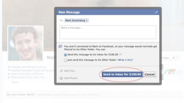 Pague US$ 100 e aumente as chances da sua mensagem ser lida pelo CEO do Facebook