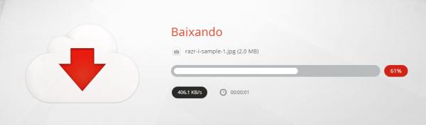 Download de arquivos é feito pelo gerenciador do Mega (não é necessário instalar nada)