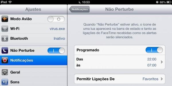 """""""Não Perturbe"""" do iOS 6 fica ativado no horário errado"""