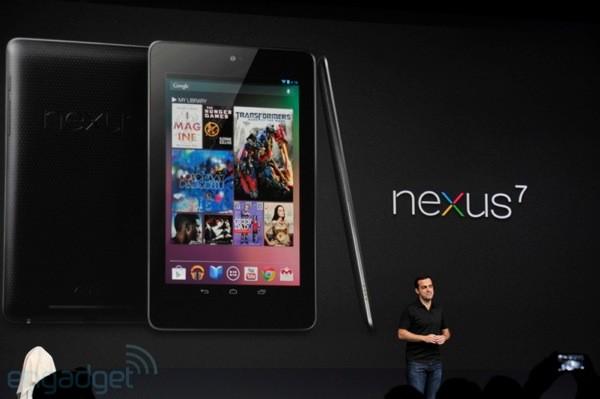 Hugo Barra apresentando o Nexus 7 (Imagem: Engadget)