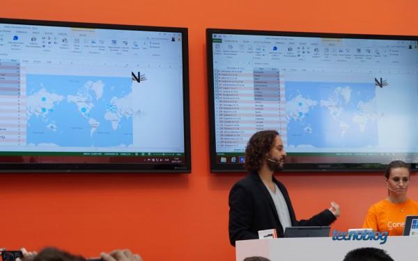 Como o Office 2013 está integrado ao Bing Maps, você pode gerar um mapa dinâmico no Excel (sim, aquele é o Gabriel o Pensador)