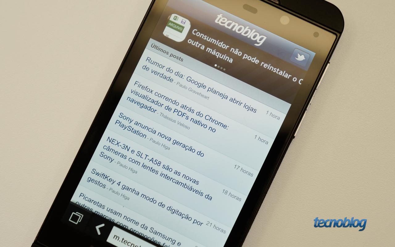 d5242c5ddf5 Em mãos: BlackBerry Z10   Tecnoblog