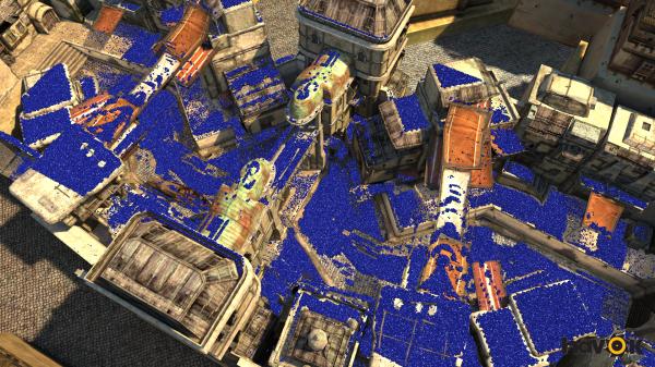 Uma das demonstrações da Engine de física rodando direto no PS4.