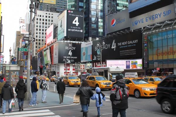 Propaganda do Galaxy na Times Square
