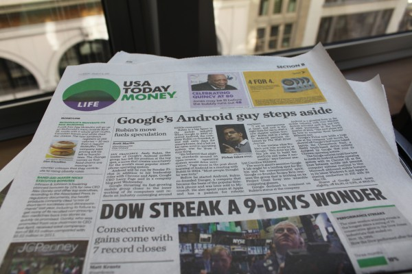 Saída de Rubin em manchete de jornal