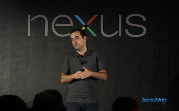Hugo Barra, VP de Android, apresentando o Nexus 4 no Brasil