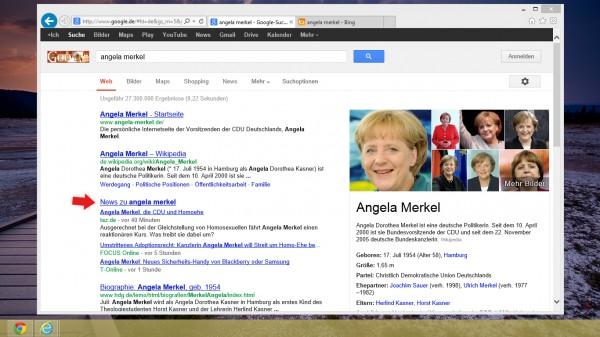 Pesquisa por Angela Merkel no Google.de
