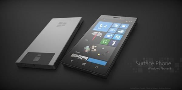 Mockup de um possível Surface Phone da Microsoft