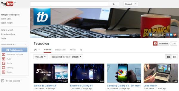 Canal do Tecnoblog no YouTube: não assinou ainda?