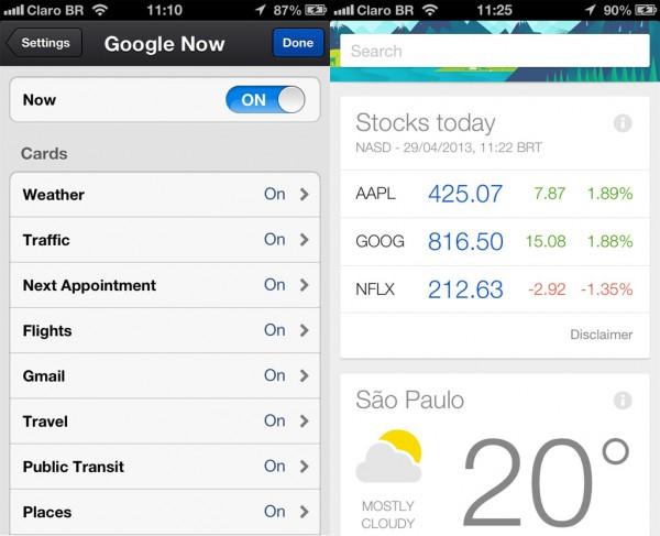 Google Now: chegou no iOS, mas um pouco limitado.