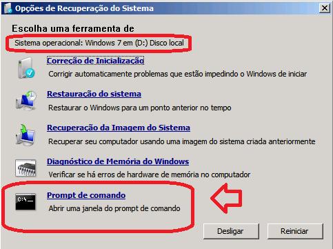 Veja a unidade em que o Windows está instalado e abra o Prompt de Comando