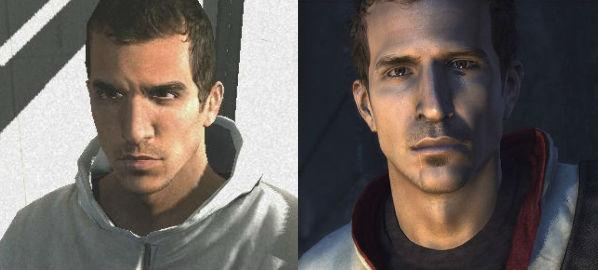 Desmond em Assassin's Creed (2007) e Assassin's Creed 3 (2012) no PS3