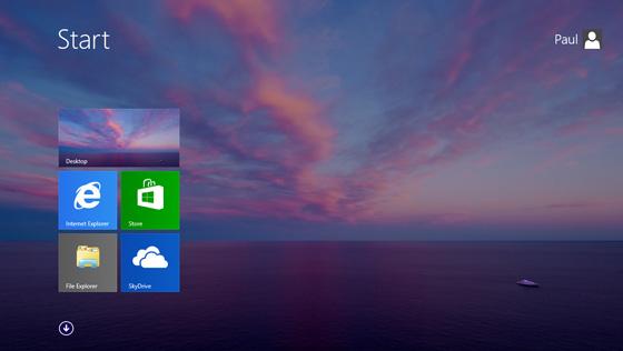Tela inicial do Windows 8.1, agora com wallpaper legal