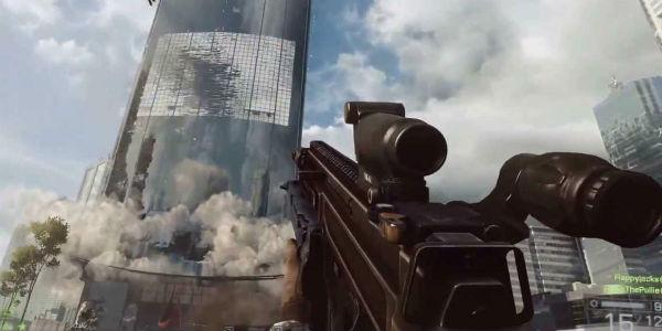 Prédio sendo demolido em Battlefield 4