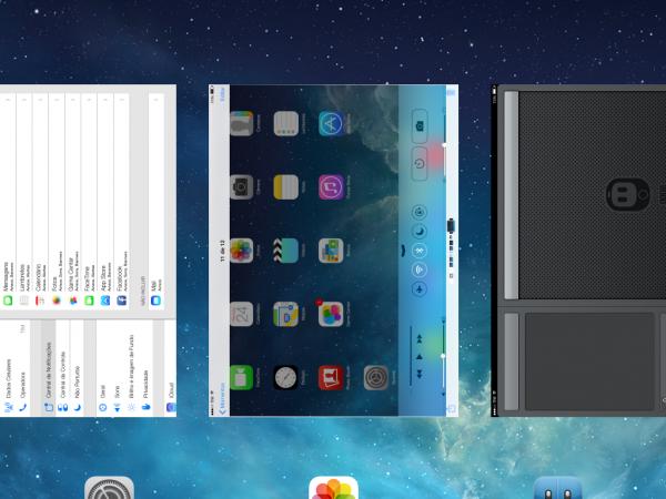 Bug durante a alternância de aplicativos no iOS 7. Isso é normal.
